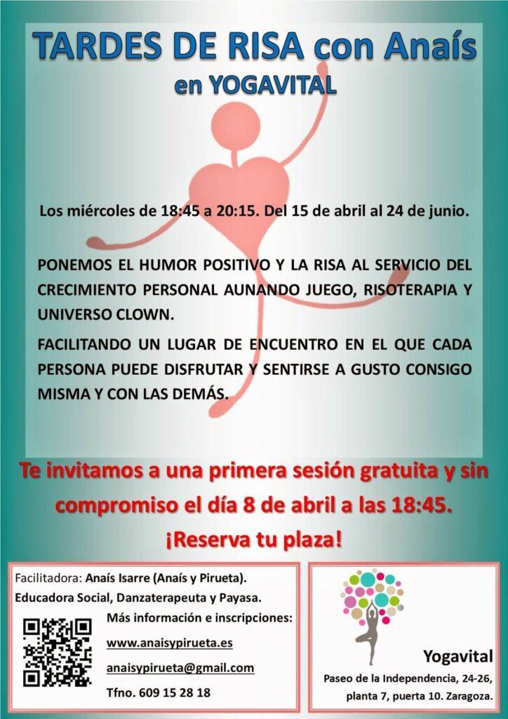 Tardes de Risa con Anaís en Yogavital Zaragoza