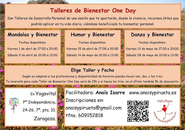 Talleres de Bienestar One Day