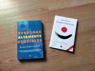 Dos libros: Clown esencial y Personas altamente sensibles.