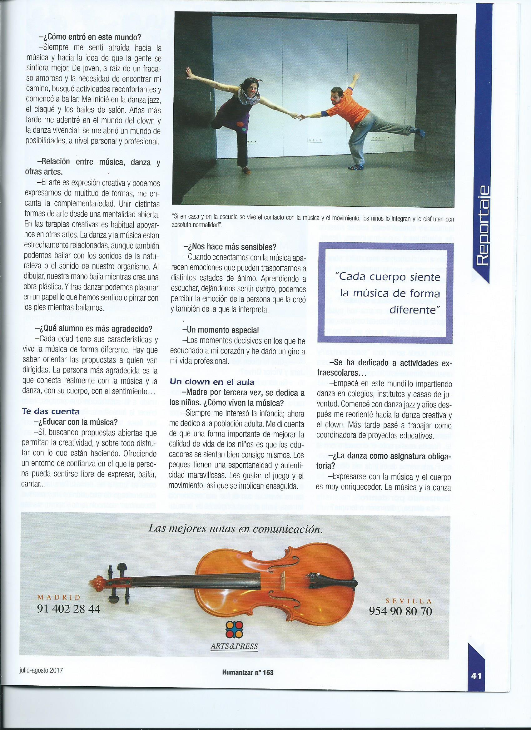 entrevista Anaís Isarre revista Humanizar 2