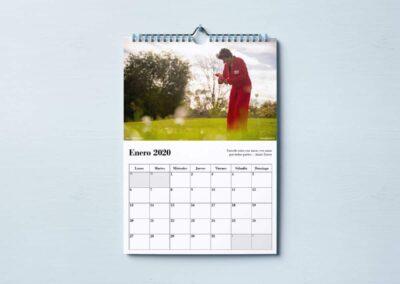 Calendario Pared Enero