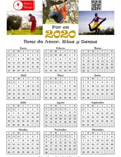 Calendario en una hoja de Pirueta