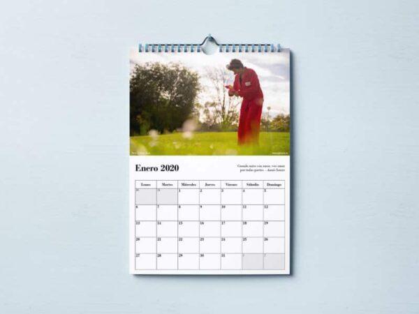 Calendario del 2020 de Pirueta