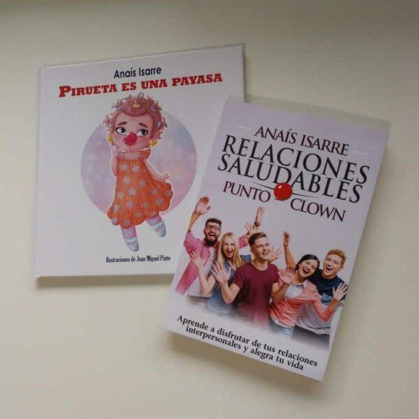 Pack Libro Relaciones Saludables Punto Clown y el cuento Pirueta es una payasa.